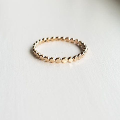 Droplet stacking ring - 14k gold filled