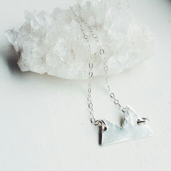 Sterling Silver Mountain Necklace
