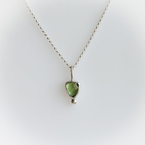 Tourmaline necklace - discount! silver
