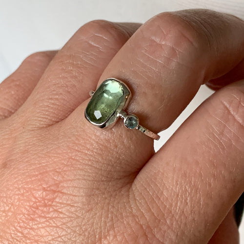 Tourmaline ring  - sterling silver - size 8