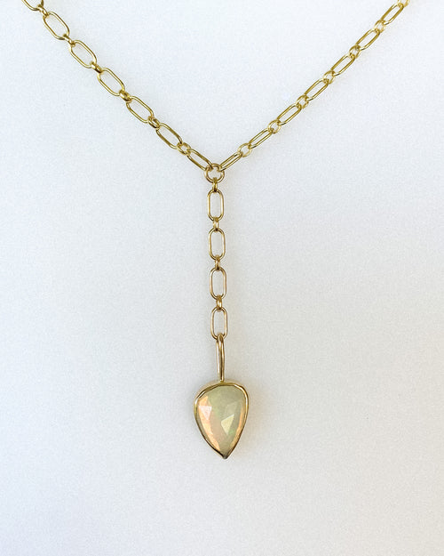 Welo opal lariat - gold