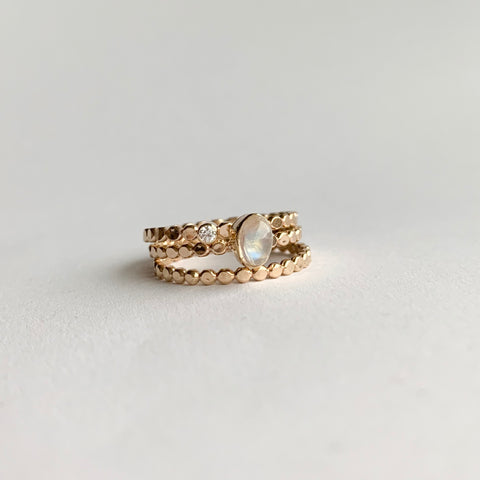 Stacking set - gold - size 5.5
