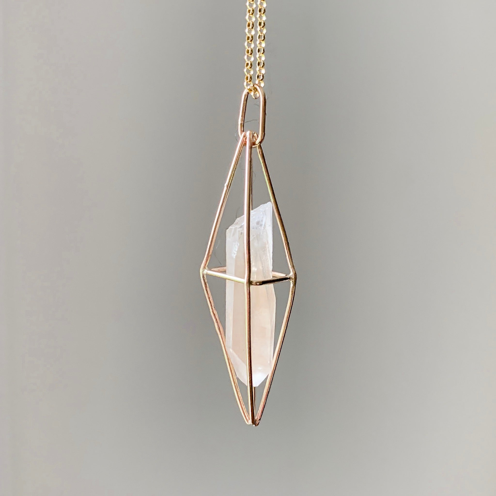 Copy of CAGED CRYSTAL - GOLD - LEMURIAN SEED