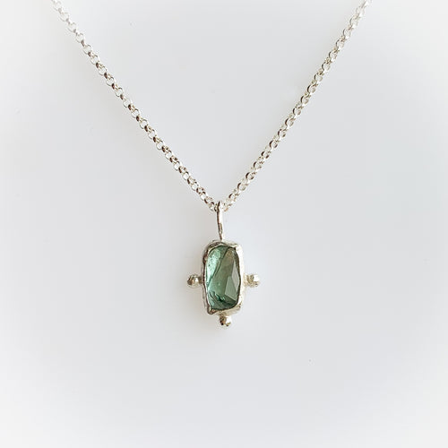 Tourmaline necklace - silver