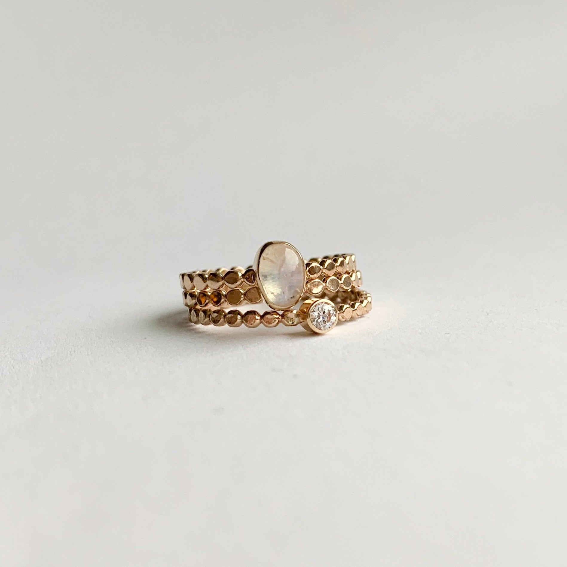 Stacking set - gold - size 7.5