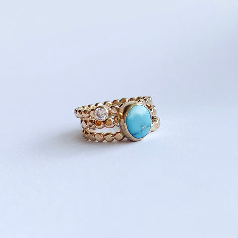 Double ring - gold - size 7 to 8