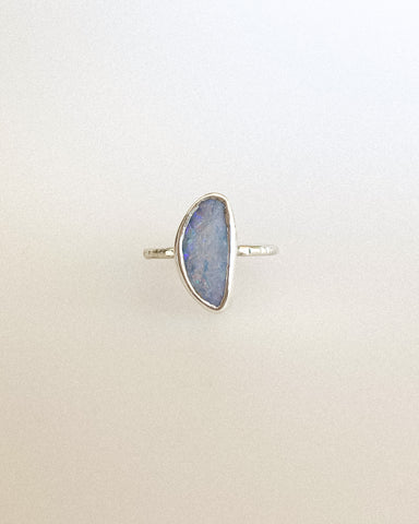 Monarch opal ring - gold - size 7