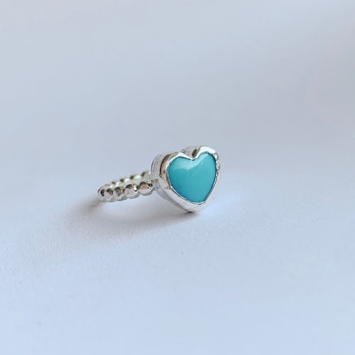 Heart ring - sterling silver - size 7.5