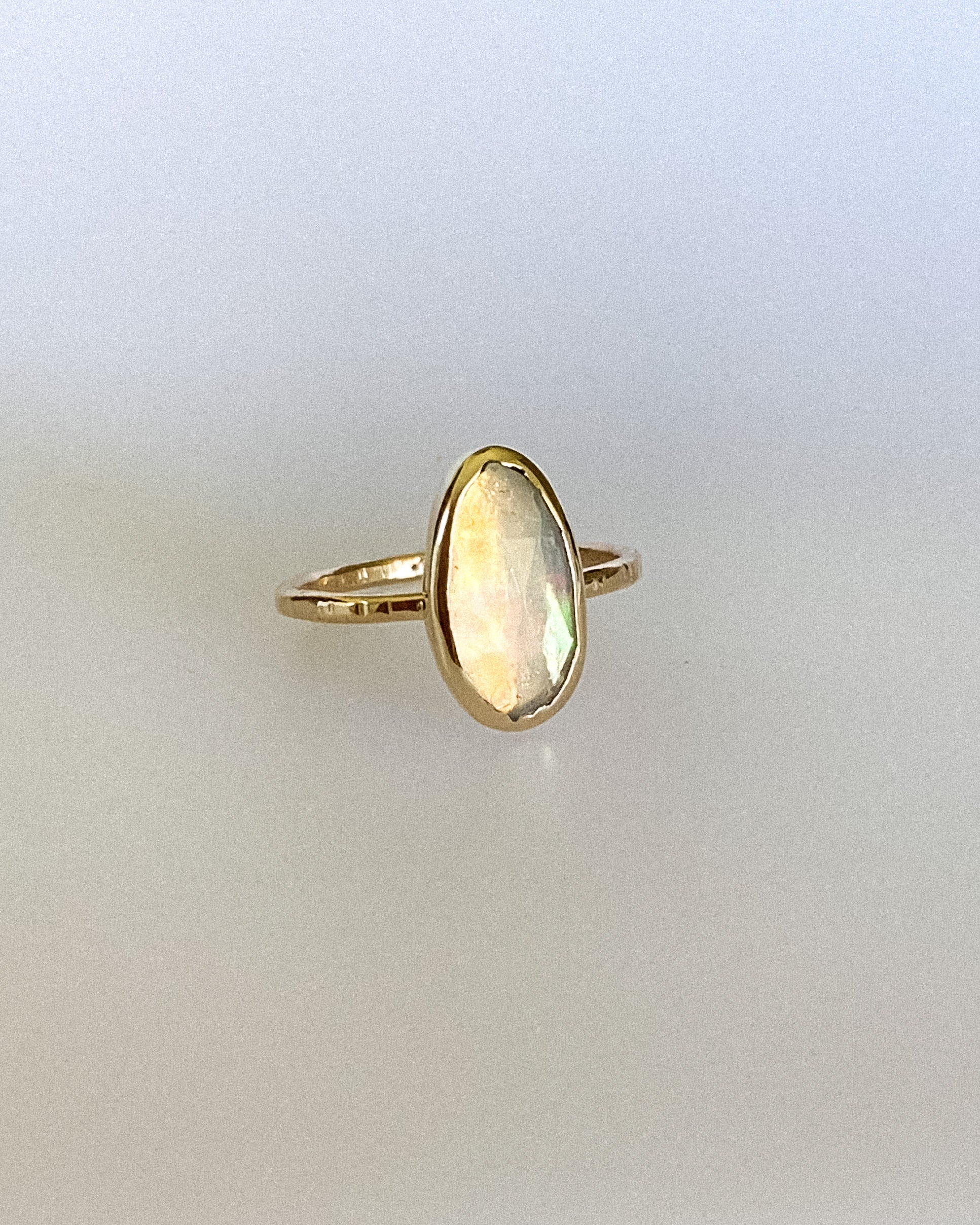 Welo opal ring - gold - size 8