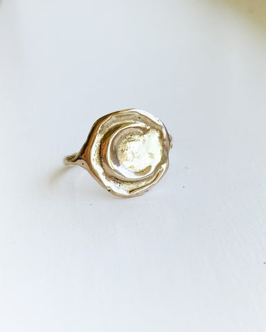 Herkimer Diamond ring - 14k Gold Filled - Small