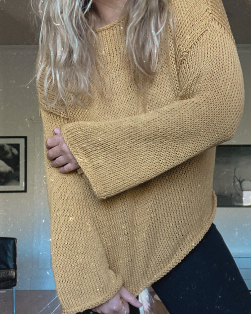 Cotton Sweater - Mustard - One Size