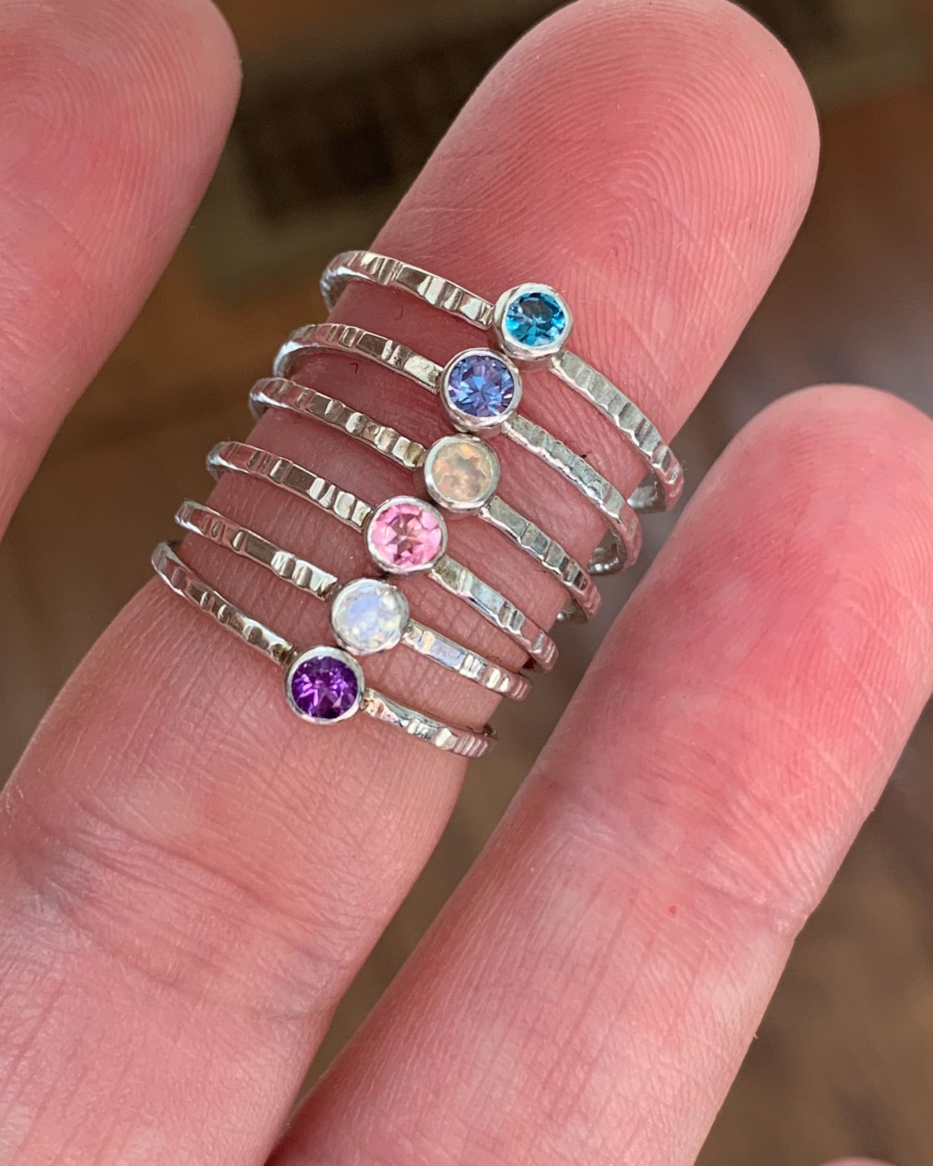 "G E M S T O N E ring - SAMPLE SALE - SILVER - promo code ""SAMPLE SALE"" for 40% OFF"