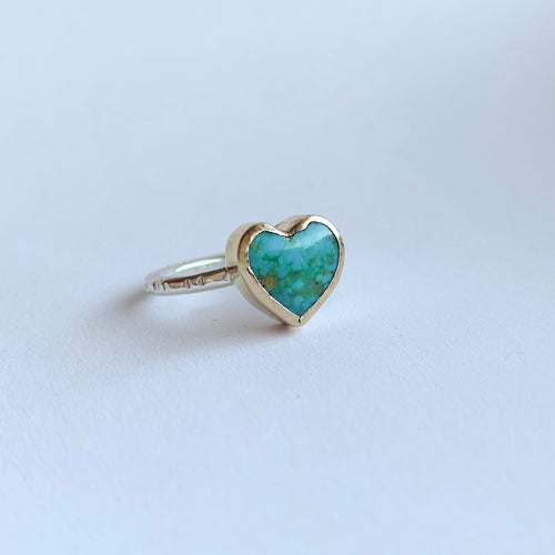 Heart ring - gold - size 7