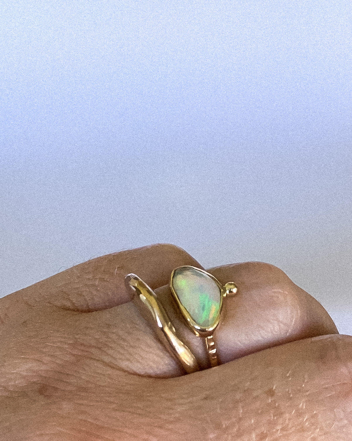 Welo opal ring - gold - size 5.5