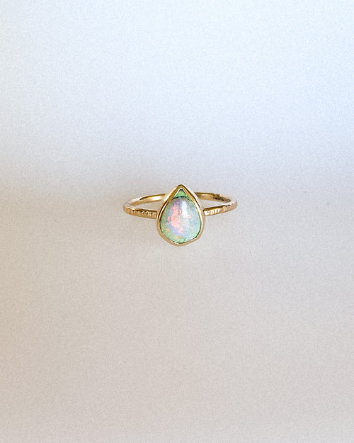 Monarch opal ring - gold - discount! Size 9