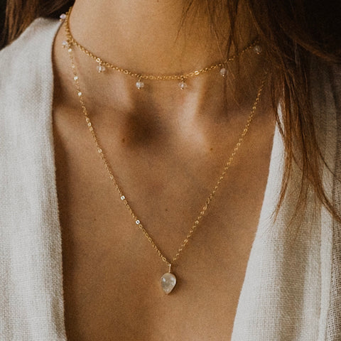 Teardrop necklace - gold