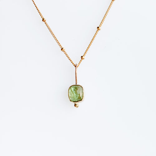 Tourmaline necklace - gold