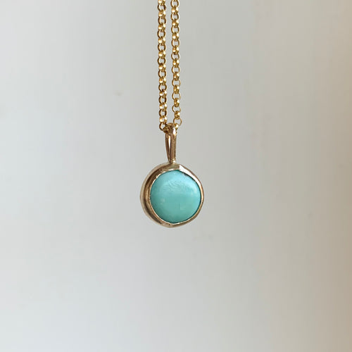 Round necklace - gold
