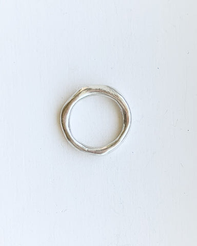 Droplet stacking ring - sterling silver