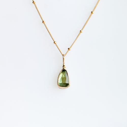 Tourmaline necklace - gold - discount!