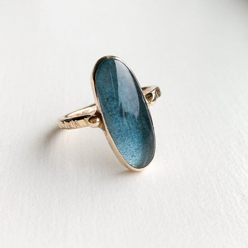 Moss Aquamarine ring - gold - size 7.5