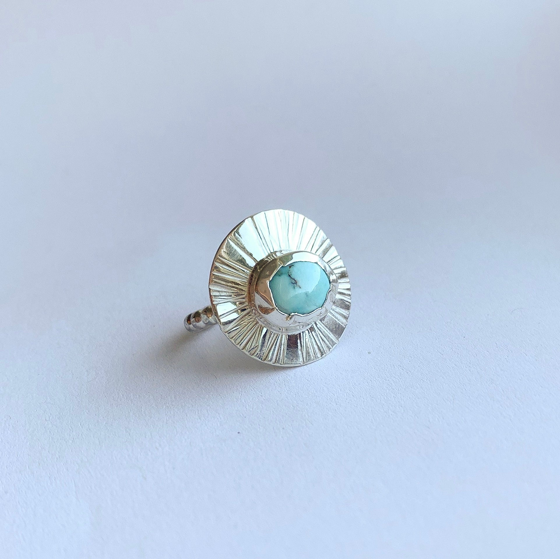 Sungazer ring - sterling silver - size 6.5