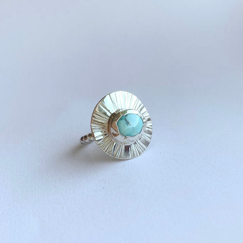 Medium ring - sterling silver - size 8