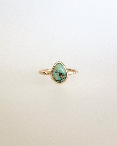 Monarch opal ring - sterling silver - Size 8