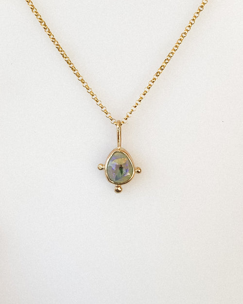 Monarch opal necklace - gold