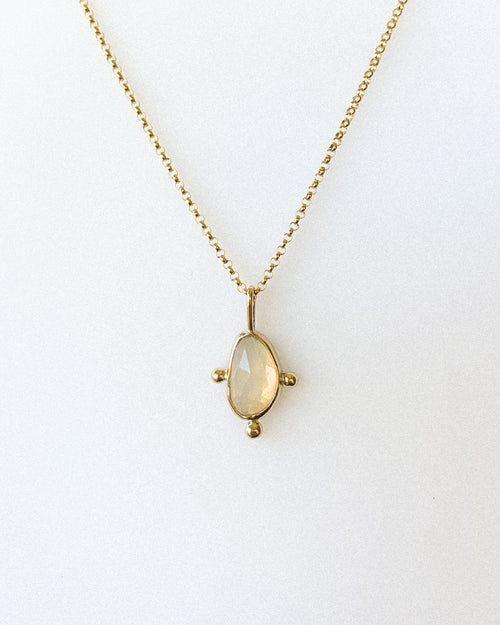 Welo opal necklace - gold