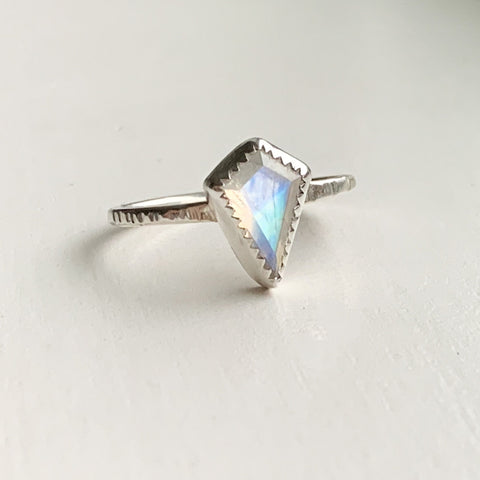 Beaded detail ring - sterling silver - size 7