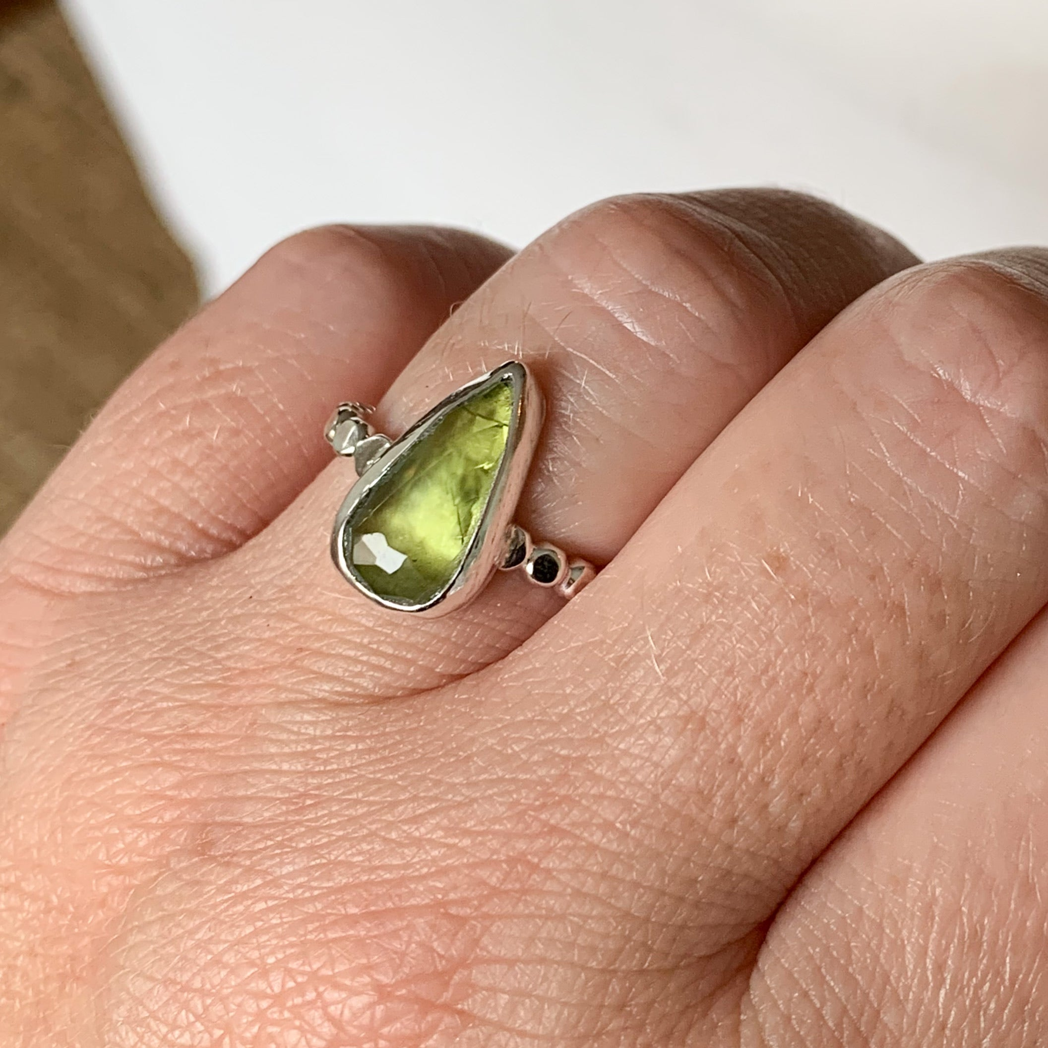 Tourmaline ring  - sterling silver - size 7.5