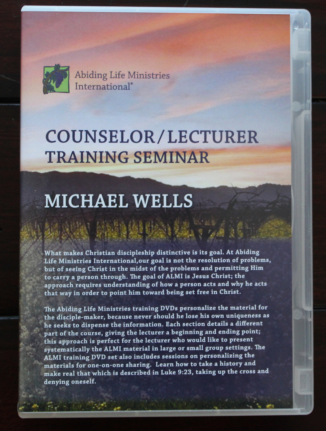 Counselor/Lecturer Training Seminar DVD