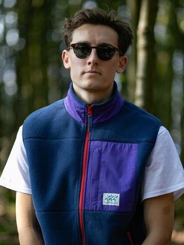 Crosstown Fleece Vest - Inthe Navy