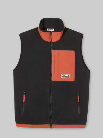 Crosstown Fleece Vest - Black