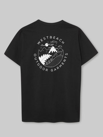 Upto the Summit T-shirt - Black