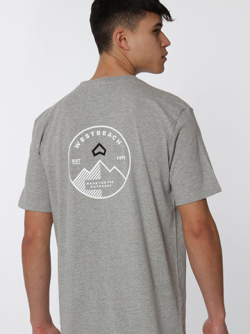 Alpine Tee - Grey Marl