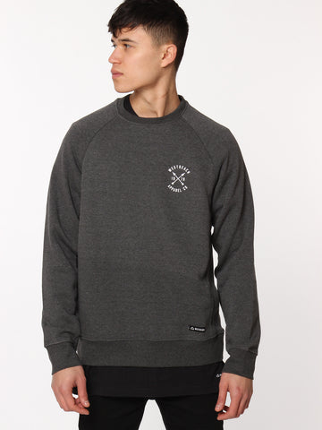 Arches Crewneck - Charcoal Marl