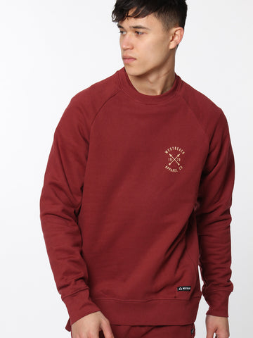 Arches Crewneck - Malbec Red