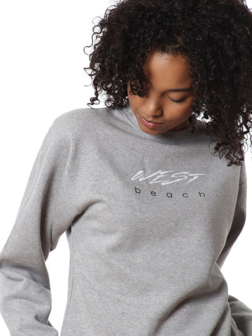 Circa Crew Neck Sweatshirt - Grey Marl