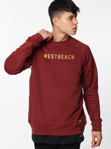 College Crewneck - Malbec Red