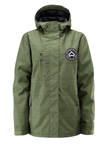 Crush Jacket - Combat green Fairisle