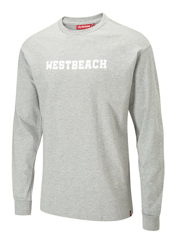 Dropout Long Sleeve Tee - Grey Marl