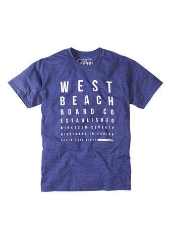 Eyetest Tee - Heather Blue