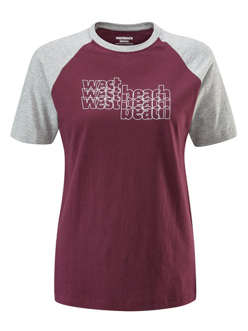 Second Base Tee - Burgundy