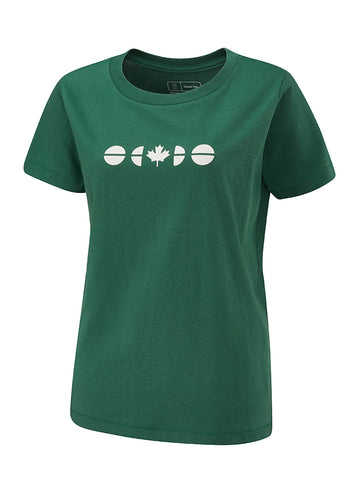 Flagdot 40 Ladies Tee - Hunter Green