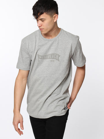 Fly The Flag Tee - Grey Marl