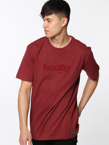 Fly The Flag Tee - Malbec Red