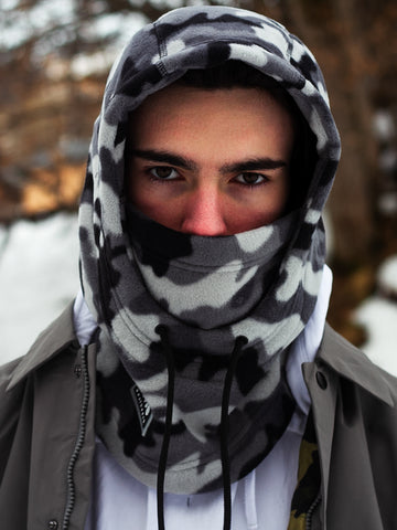 Exploit Hooded Balaclava - Winter Camo