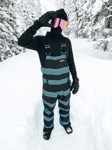 Kingman Bib Pant - Endless Blue Super Stripe
